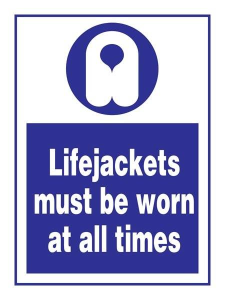 Lifejacket Must Be Worn: Påbudsskilt