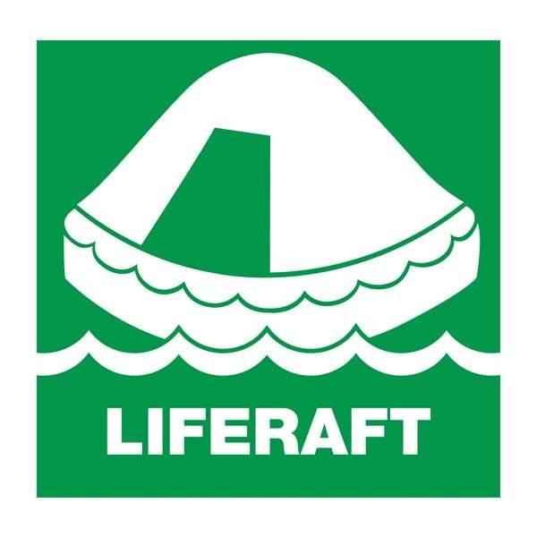 Liferaft: Redningsskilt
