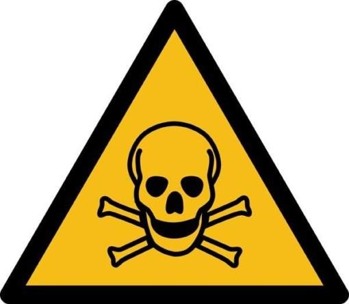 Giftige stoffer ISO_7010_W016. Advarselsskilt