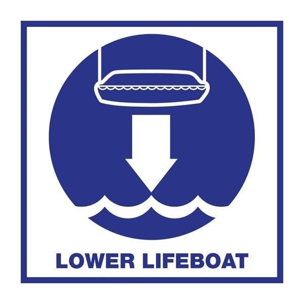 Lower Lifeboat: Redningsskilt