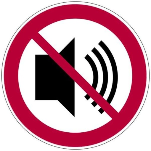 Lyd forbudt skilt