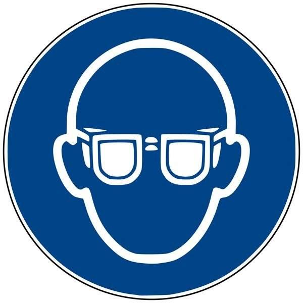 M004 ISO 7010 Brille. Påbudsskilt