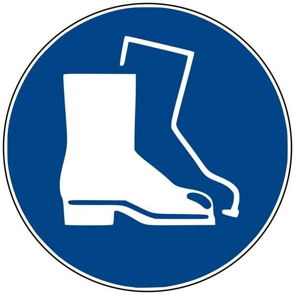 M008 ISO 7010 Støvlepåbud. Påbudsskilt