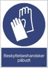 Beskyttelseshandsker påbudt M009 ISO 7010 . Påbudsskilt