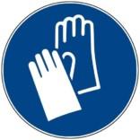 M009 ISO 7010 Handske påbud. Påbudsskilt