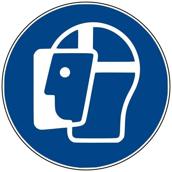 M013 ISO 7010 ansigtsskærm påbudt. Påbudsskilt