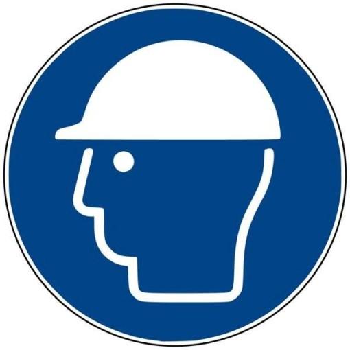M014 ISO 7010 Hjelm påbudt. Påbudsskilt