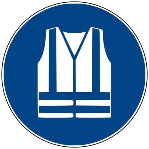 M015 ISO 7010 Sikkerhedsvest påbudt. Påbudsskilt