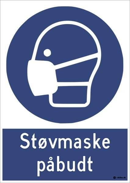 Støv Maske påbudt M016 ISO 7010. Påbudsskilt