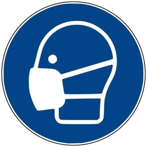 M016 ISO 7010 Maskepåbudt. Påbudsskilt
