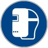 M019 ISO 7010 Svejsehjelm påbudt. Påbudsskilt