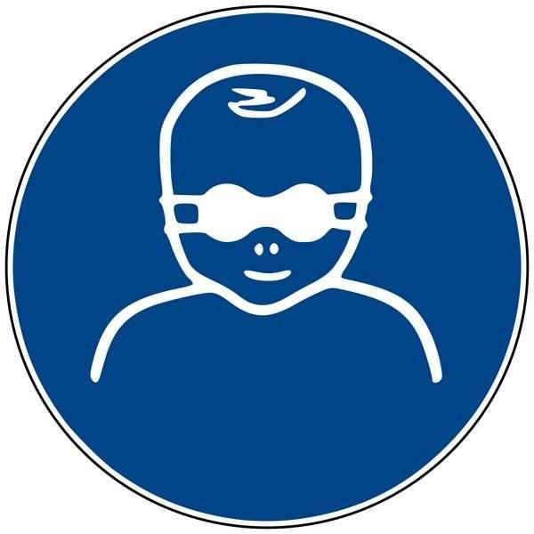 M025 ISO 7010 Baby solbrille. Påbudsskilt