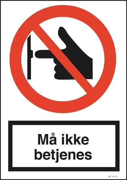 Ikke røre skilte