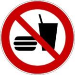 Mad og drikke forbudt skilt