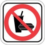Mad og drikke forbud - Piktogram skilt