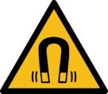 Magnetfelt ISO_7010_W006. Advarselsskilt
