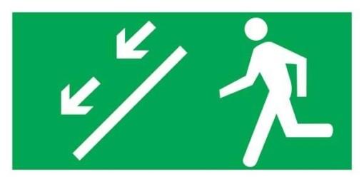 Man Running Left Down Redningsskilte