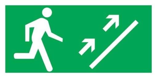 Man Running Right Up Redningsskilte