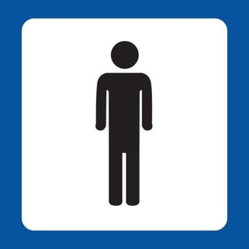 Herrre Toilet Piktogram skilt