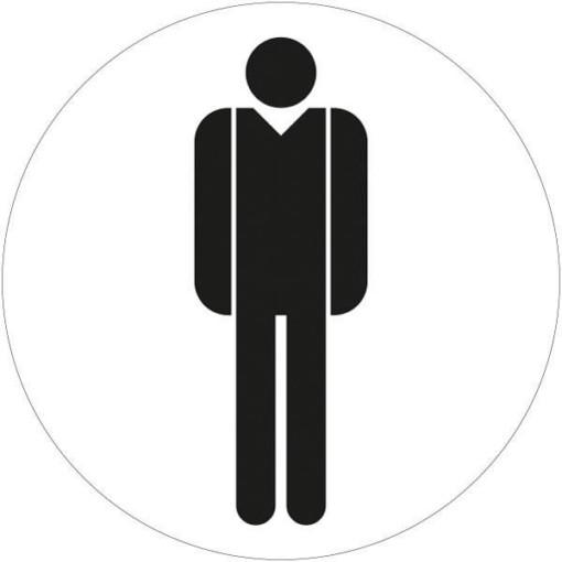 Mand toiletskilt rundt Sort Skilt