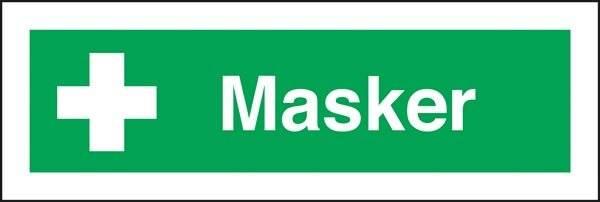 Masker. Skilt