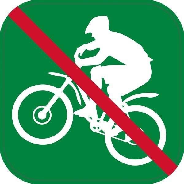 Mauntainbike forbud - piktogram skilt