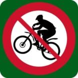 Mountainbike forbudt skilt
