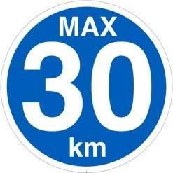 Max 30 km Skilt