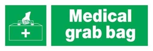Medical Grab Bag Redningsskilte.