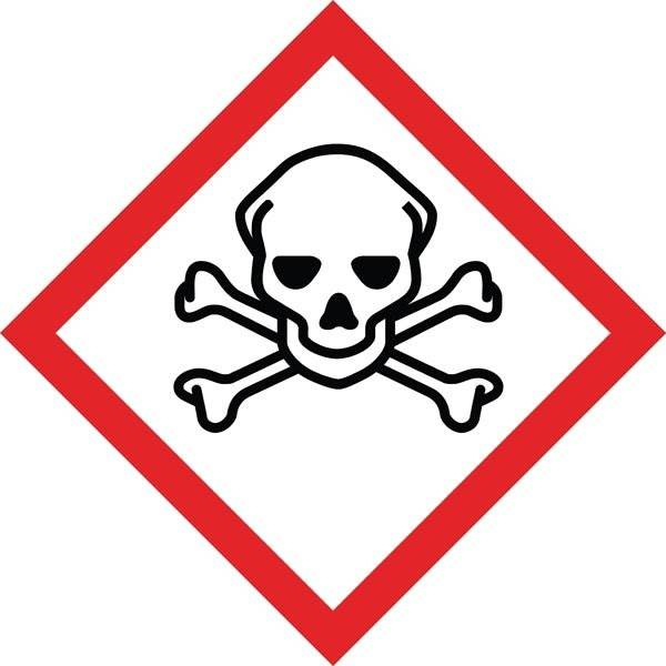 Meget giftigt GHS skilt