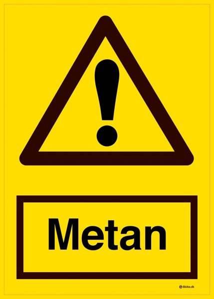 Metan. Advarselsskilt