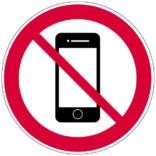 Mobil forbudt skilt