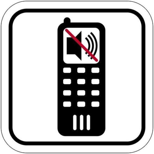 Mobil lyd forbuds piktogram skilt