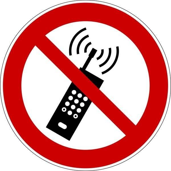 Mobil tlf. forbudt Skilt