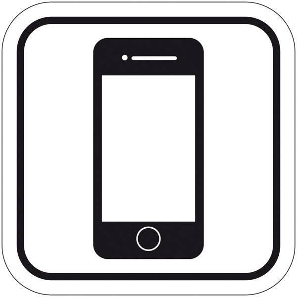 Mobiltelefon. Piktogram skilt