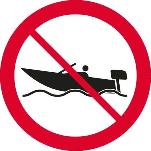 Motorbåds forbudsskilt Skilt