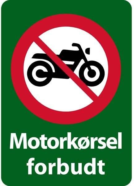 Motorkørsel forbudt forbudsskilt