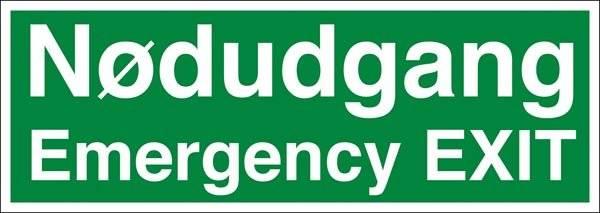 Nødudgangsskilt - Emergency Exit