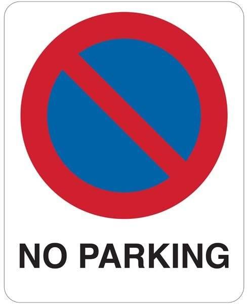 No parking. Parkeringsskilt