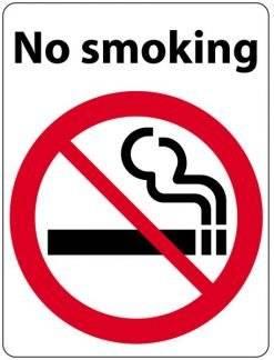 No smoking. Rygerskilt