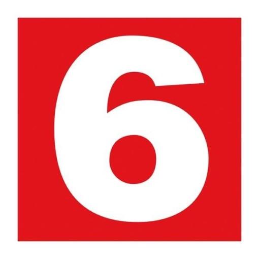 Number 6. Brandskilt
