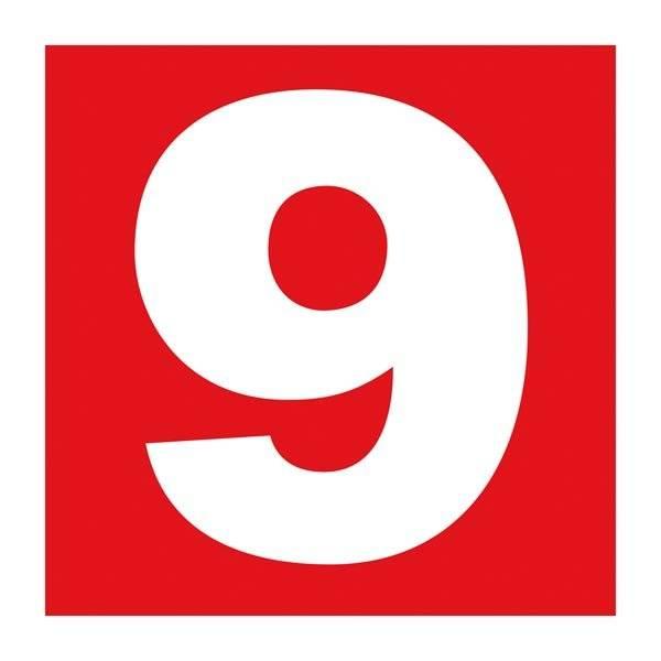 Number 9. Brandskilt