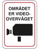 Området er videoovervåget skilt