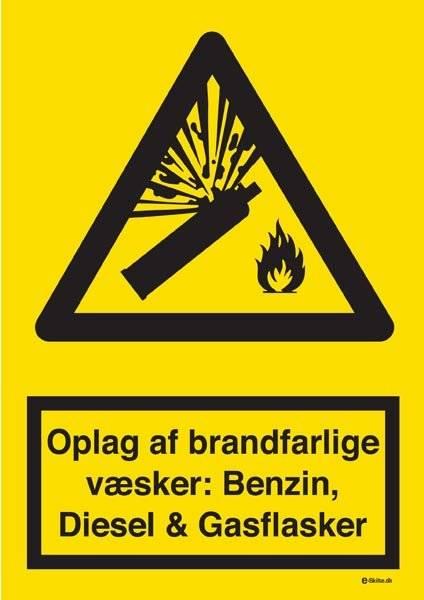 Oplag af brandfarlige væsker - Benzin