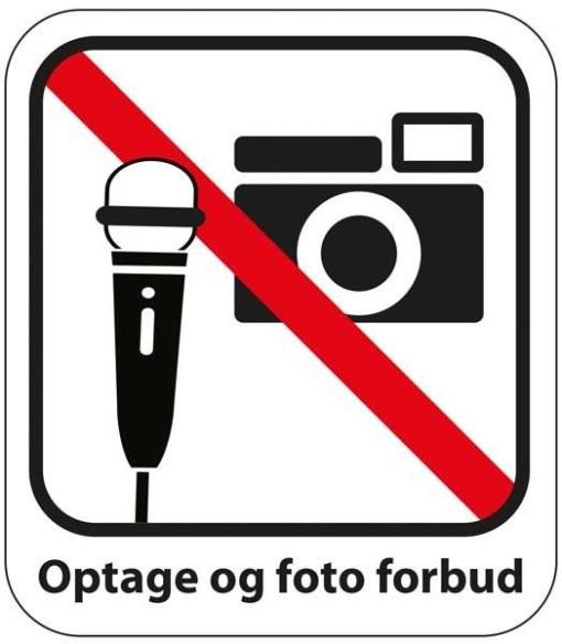 Optage og fotograferings forbud Piktogram skilt