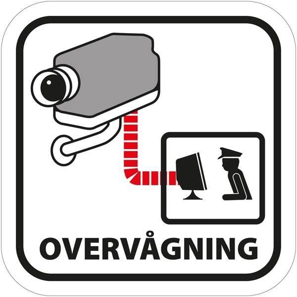Overvåget overvågning piktogram. skilt