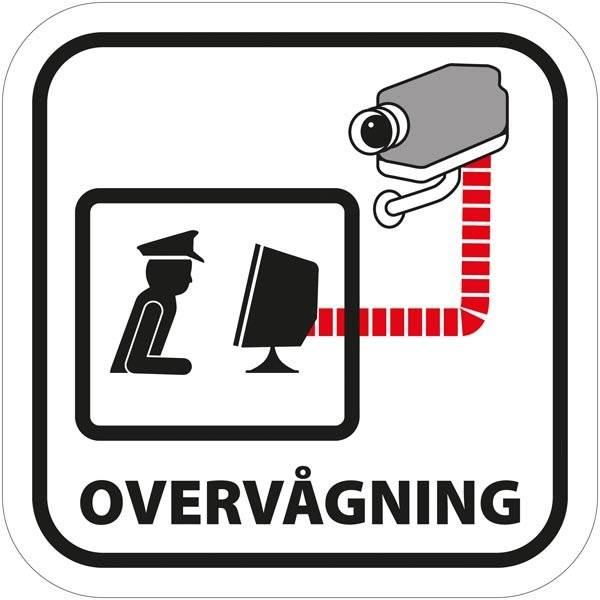 Overvåget overvågning piktogram. Overvågning piktogram. skilt
