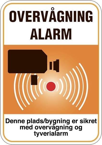 Denne plads/bygning er sikret med overvågning og tyverialarm.Skilt