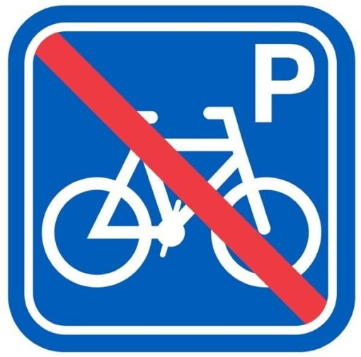 Cykel P forbud Pic. Parkeringsskilt