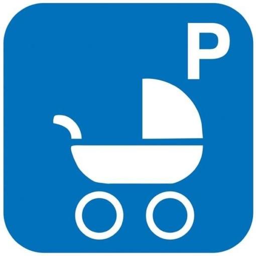 P barnevogne. Piktogram skilt